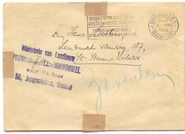 Omslag Enveloppe Brief Ministerie Van Landbouw - Brussel 1945 - St Stevens Woluwe - Entiers Postaux