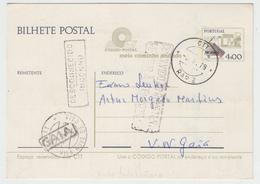 Postal Stationery * Portugal * 1979 * Vila Nova De Gaia * Gaia Postmark * Inconnu * Return * Registered*Aviso Chegada CP - Ganzsachen