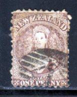Nouvelle-Zelande 1873 Yvert 39a (o) B Oblitere(s) - Used Stamps