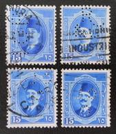 ROYAUME - ROI FOUAD 1ER 1923/24 - OBLITERES - YT 88 - MI 88 - TIMBRES PERCES - Egypt