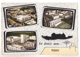 POISSY EN YVELINES  CARTE MULTIVUES  CPA  CIRCULEE - Poissy