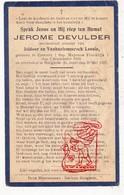 DP Kind Pieuse Enfant - Jerome Devulder / VanHaelemeersch 7j. ° Commer FR Mayenne 1918 † St.-Jozef Hooglede BE 1926 - Images Religieuses