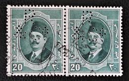 ROYAUME - ROI FOUAD 1ER 1923/24 - PAIRE DE TIMBRES PERCES  OBLITERES - YT 89 - MI 89 - Egypt
