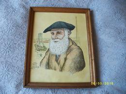 2 Portraits De Personnages Bretons Signés - Drawings