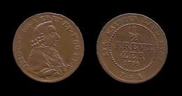 FRIEDRICH KARL JOSEF . MAYENCE .1/2 KREUZER 1795 . - Gold Coins