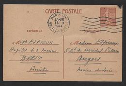 Carte   1F 20  Semeuse Lignée - Cartes Postales Types Et TSC (avant 1995)
