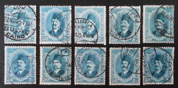 ROYAUME - ROI FOUAD 1ER 1923/24 - OBLITERES - YT 90 - MI 90 - VARIETES D'OBLITERATIONS - Egypt