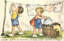 J -LAGARDE (illustrateur) - J'espère Que Tu As Les Mains Propres Pour étendre Le Linge ? - Illustrateurs & Photographes