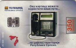BOSNIA - Republica Srpska Telecard, Nektar Beer, 06/99, 350 U, Tirage 25,000, Used - Bosnia