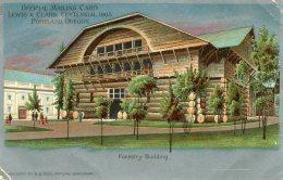 UNITED STATES - Official Mailing Card Lewis & Clark Centennial 1905 Portland Oregon - Forestry Building - Tentoonstellingen