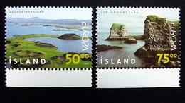 Island 913/4 **/mnh, EUROPA/CEPT 1999, Krater Von Skútustadir, Naturschutzgebiet Arnarstapa - 1944-... Republik