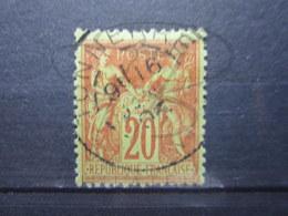 """VEND BEAU TIMBRE DE FRANCE N° 96 , GARANCE SUR VERT , CACHET """" TONNERRE """" !!! - 1876-1898 Sage (Tipo II)"""