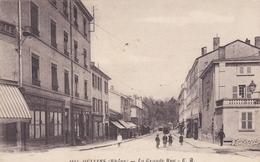 OULLINS 69 RHONE LA GRANDE RUE AU PONT D'OULLINS COMMERCES BELLE CARTE RARE !!! - Oullins