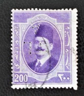 ROYAUME - ROI FOUAD 1ER 1923/24 - OBLITERE - YT 92 - MI 92 - TIMBRE PERCE - Egypt
