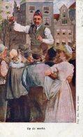 NETHERLANDS - Art Card - Op De Markt - Undivided Rear (1900 ?) - Europe