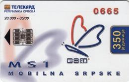BOSNIA - Republica Srpska Telecard, Mobilna Srpske Ms 1, 05/00, 350 U, Tirage 20,000, Used - Bosnia