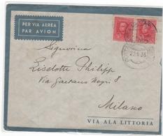 Lettre  1937  ERITHREE  Poste Militaire  , X3 - Erythrée