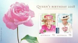 Australia 2018 Queen's Birthday Rose Minisheet MNH - Unused Stamps