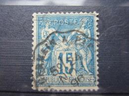 """VEND BEAU TIMBRE DE FRANCE N° 101 , CACHET CONVOYEUR LIGNE """" ST-GERMAIN A PARIS """" !!! - 1876-1898 Sage (Type II)"""