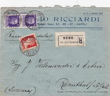 Brief Von Napoli In Die Schweiz (br3655) - 1900-44 Vittorio Emanuele III
