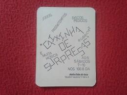 CALENDARIO DE BOLSILLO DE MANO PORTUGAL PORTUGUESE CALENDAR 1988 1989 RADIO CLUBE CLUB DE GAIA PASATEMPOS DISCOS MÚSICA. - Calendarios