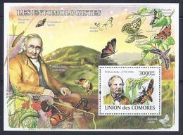 Comores Mushroom / Champignons Souvenir Sheet  Mycologue William KIRBY - Champignons