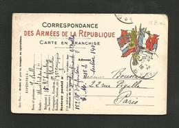 CARTE EN FRANCHISE ECRITE FEVRIER 1916 - Poststempel (Briefe)