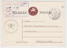 Postal Stationery * Portugal * 1973 * Mangualde * Ambulancia Beira Alta II * Sociedade Mineira Carolinos, Lda * Holed - Ganzsachen