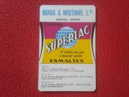 CALENDARIO DE BOLSILLO DE MANO PORTUGAL PORTUGUESE CALENDAR 1989 SUPERLAC ESMALTES TINTA ERMESINDE TINTAS VER FOTO/S - Calendarios