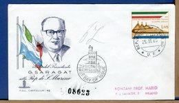 SAN MARINO - FDC  CAPITOLIUM - 1965 - VISITA PRESIDENTE SARAGAT - FDC