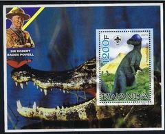 Ruanda 2005 Dinosaures Dinosaurs  Lord Baden POWELL Scoutism Crocodile - Prehistory