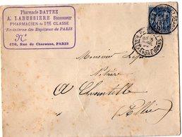 VP11.998 - Enveloppe - Pharmacie DATTEZ A. LABUSSIERE Successeur Pharmacien De 1re Classe à PARIS - France