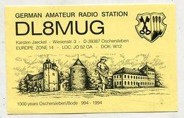 QSL CARD  - AK 323163 Germany - Oschersleben - German Amateur Radio Station - Radio