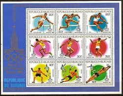 Burundi 1980 OCBn° Bloc 111  *** MNH Cote 50 Euro Sport Olympische Spelen Moskou - 1980-89: Neufs