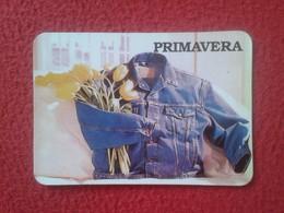 CALENDARIO DE BOLSILLO DE MANO PORTUGAL PORTUGUESE CALENDAR 1989 PRIMAVERA RUA SANTO ILDEFONSO PORTO OPORTO ROPA MODA - Calendarios