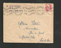OBLITERATION MECANIQUE FOIRE D'ETAMPES 1951 - Marcophilie (Lettres)