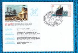 Germany 3 Covers USo 127 / 150 Jahre Norddeutscher Lloyd 2007 Dampfer Bremen - Lettres & Documents