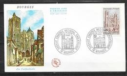 FDC   Lettre Illustrée Premier Jour Bourges Le 05-07/6/1965 Le N°1453 Cathédrale  TB .soldé à Moins De 20 %! ! ! - FDC