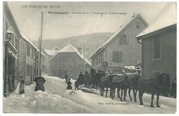 90 Giromagny - Grande Rue - Passage Du Chasse Neige - Attelage - Giromagny