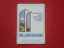 CALENDARIO DE BOLSILLO DE MANO PORTUGAL PORTUGUESE CALENDAR 1989 WILLIAM GRAHAM PORTO OPORTO EMPREITADAS GERAIS VER FOTO - Calendarios