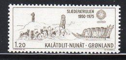 GROENLANDIA 1975 - 25° PATTUGLIA SU SLITTA SIRIUS - MNH ** - Greenland