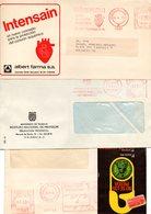 2 Cartas + Un Frontal Con Matasellos Rojos De 1975. - 1931-Heute: 2. Rep. - ... Juan Carlos I