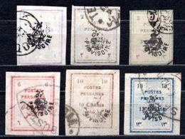 1906 IRAN OVERPRINTED DEFINITIVES MICHEL: 227-232 USED - Iran
