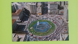 Cartolina ATENE - GRECIA - Viaggiata - Postcard - La Piazza Omonia - Veduta Aerea - Grecia