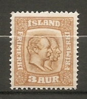 ISLAND - 1913 Yv. N°  76   *  3a   Filigrane Croix   Cote   4 Euro BE    2 Scans - Neufs