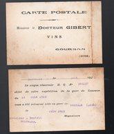 Coursan (11 Aude) Carte Postale Retour DOCTEUR GILBERT (vins) (PPP12190) - Publicidad