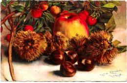 CPA CHIOSTRI Carlo Italie Illustrateur Italien Non Circulé Ballerini Fratini N° 289 Nature Morte Pommes - Chiostri, Carlo