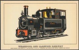 Welshpool And Llanfair Railway Beyer Peacock Tank Engine No 2 The Countess - Prescott-Pickup Postcard - Trains