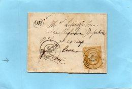 Cachet EVREUX-LAC Du 28/6/64-O.R.-de IRREVILLE. - 1849-1876: Klassik