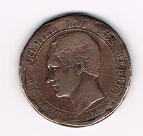 &   OFFICIELE HERDENKINGSMEDAILLE MODUUL VAN 10 CENTIEM  1853 - 1831-1865: Leopold I